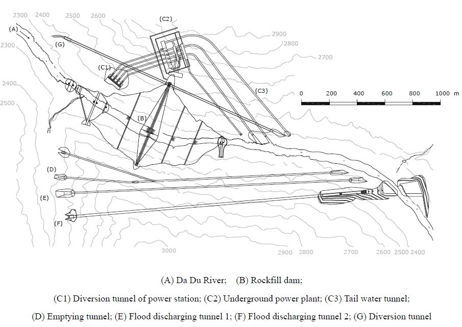 План сооружений ГЭС.