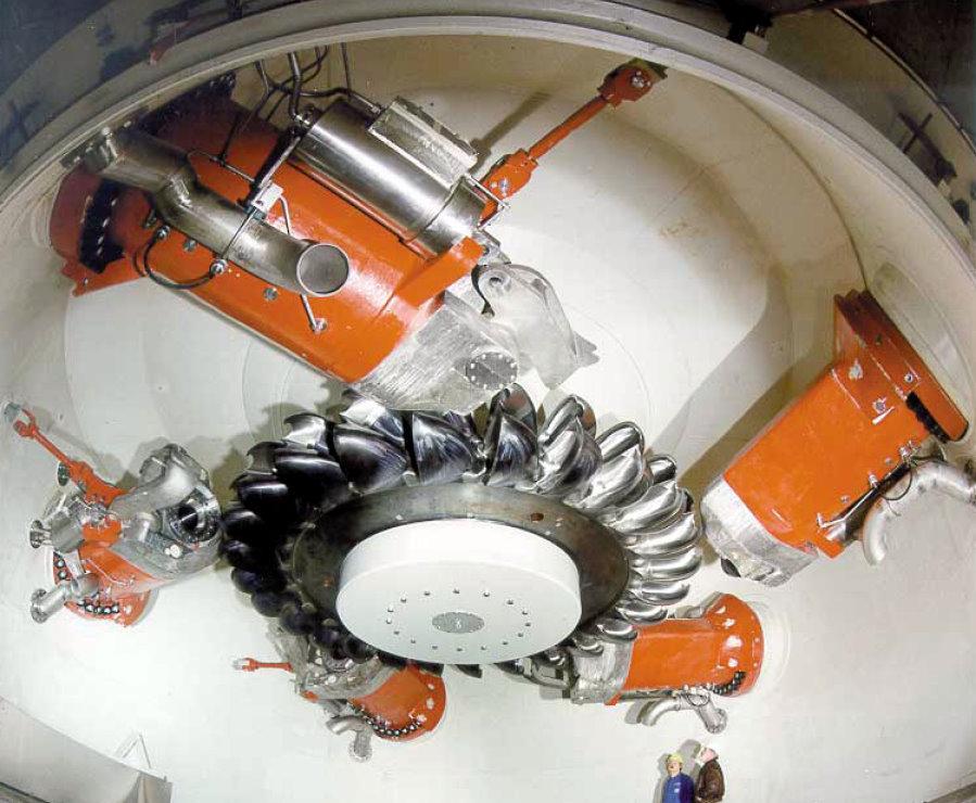 Турбина ГЭС Бъедрон.