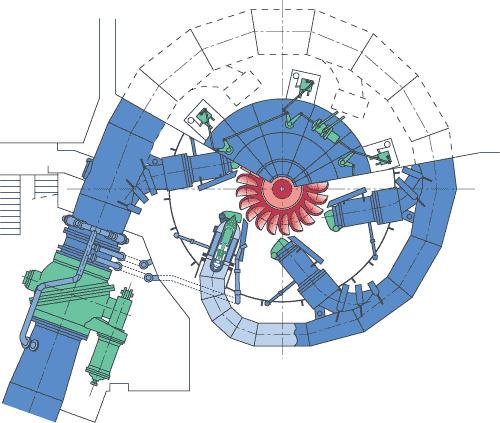 схема ковшовой турбины.