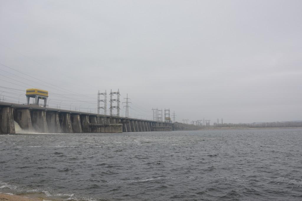 Открытие водосливной ЖиГЭС