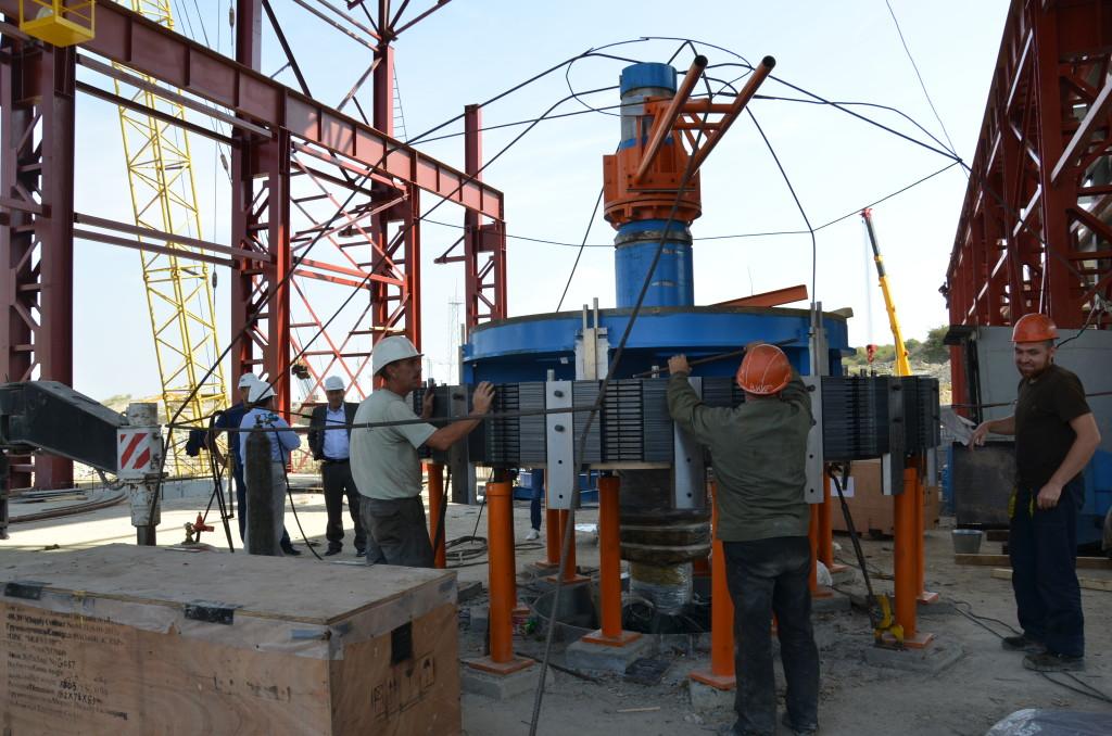 Начали монтаж гидрогенераторов Зарагижской ГЭС