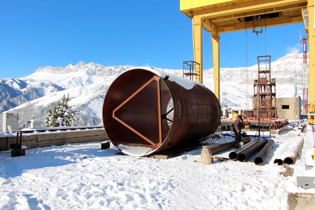 Подготовка обечаек для монтажа вертикальной шахты