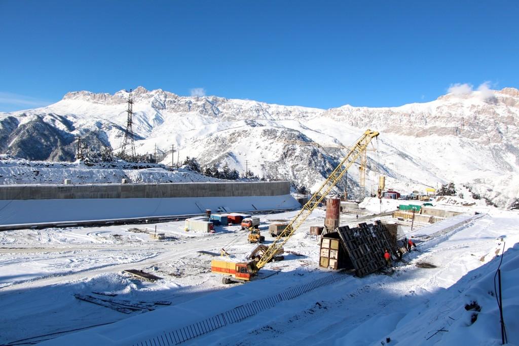 Строительство БСР Зарамагской ГЭС
